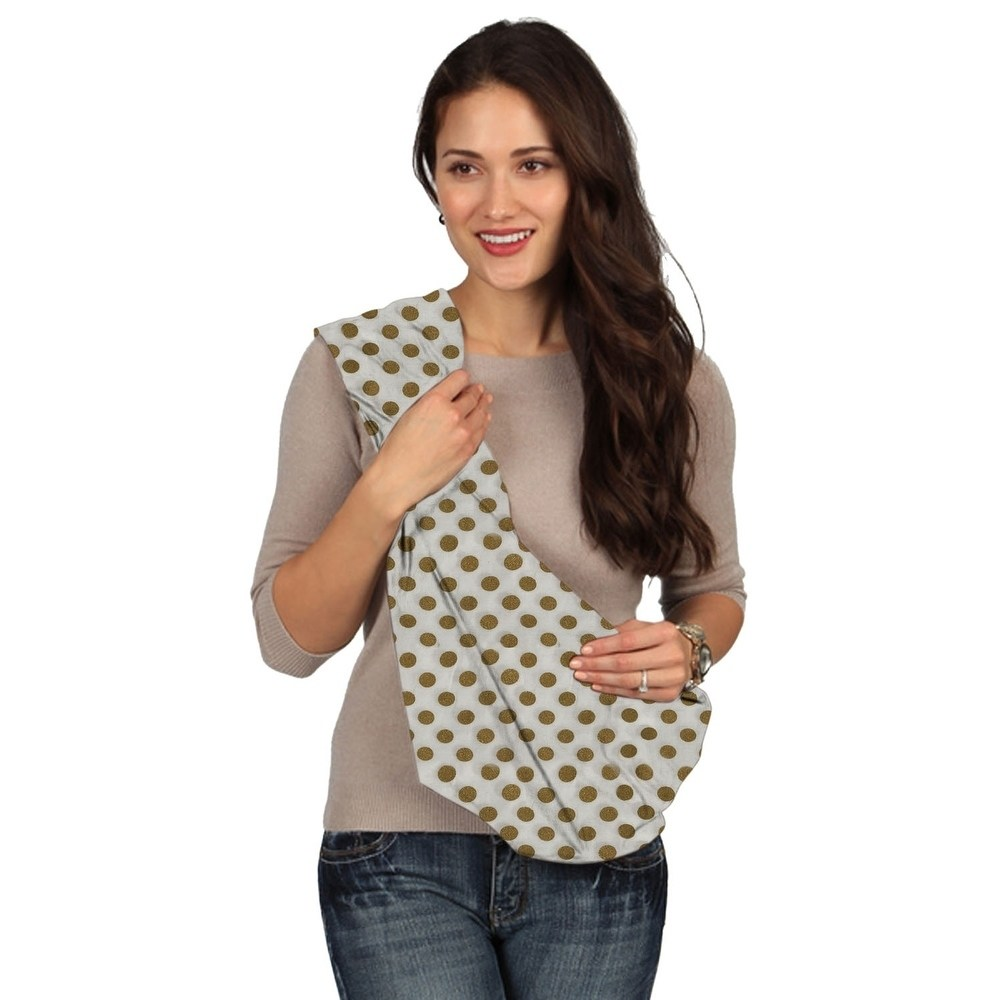 Karma Baby Karma White with Golden Dot Breathable Cotton Fabric Baby Sling - Medium
