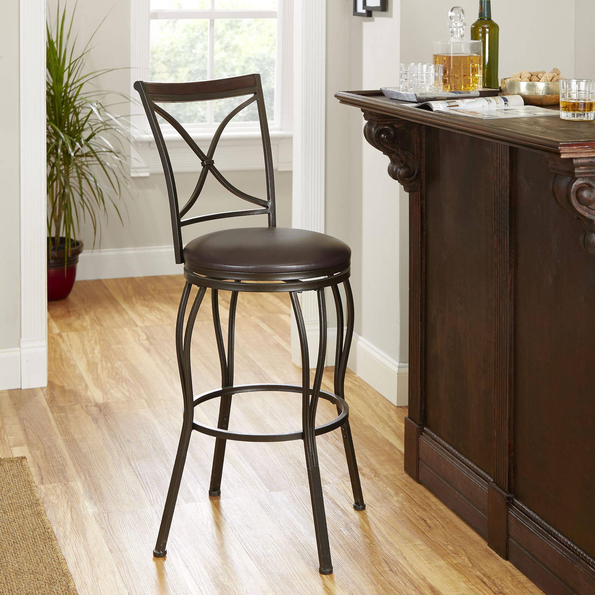 Cameron Adjustable Height Barstool With Swivel Seat   Walmart.com