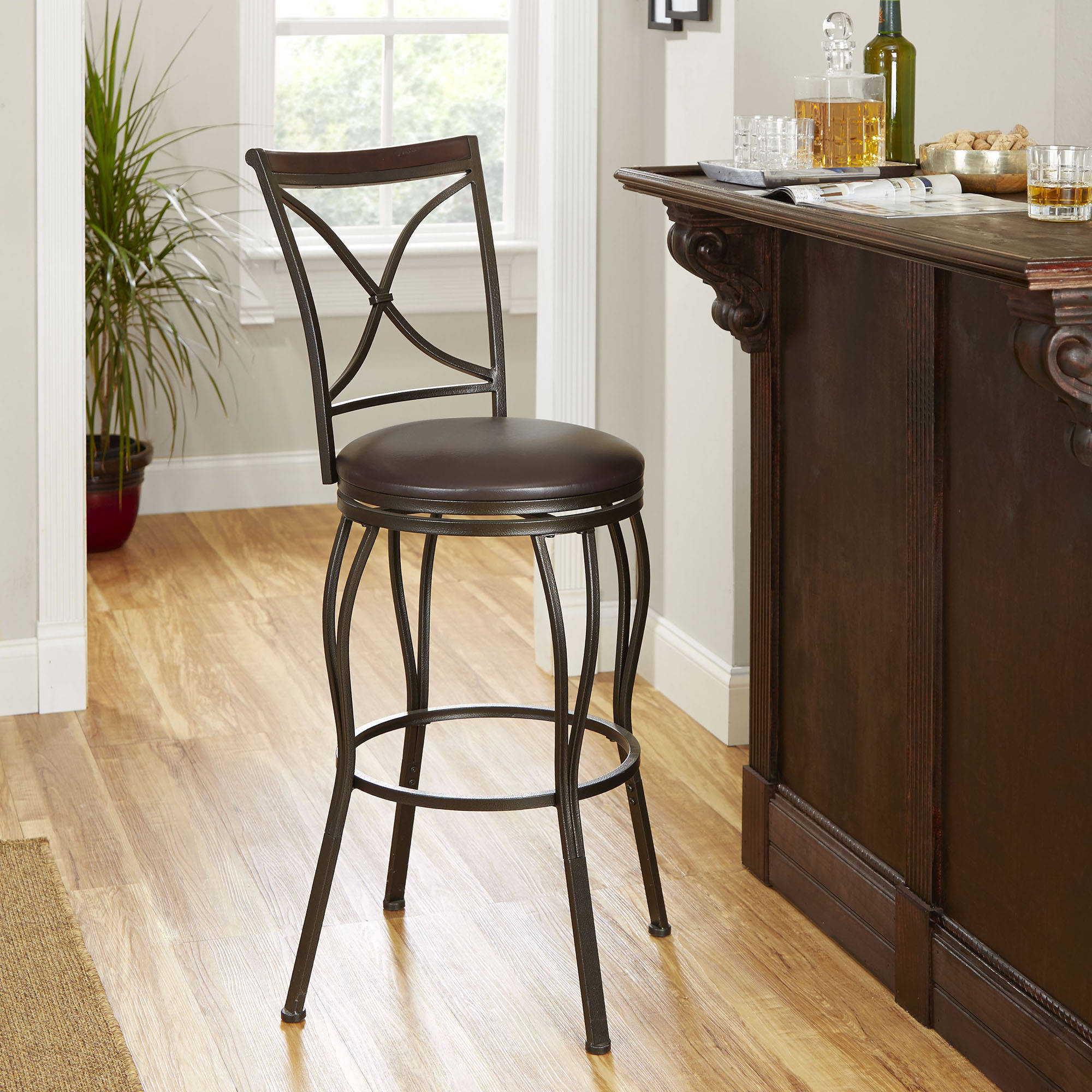Cameron Adjustable Height Barstool With Swivel Seat