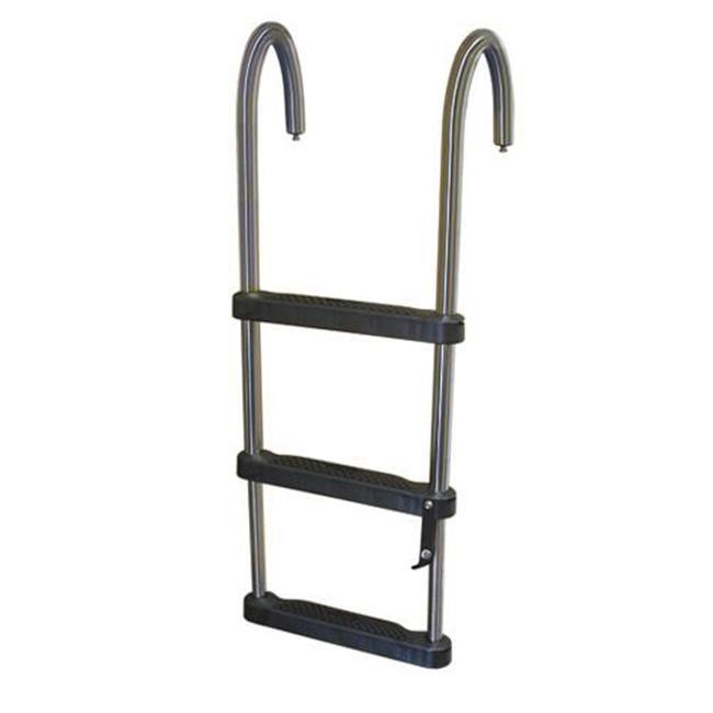 Jif Marine Ejz3 3 Step Removable Telescoping Pontoon Ladder