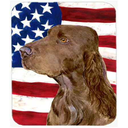 Carolines Treasures SS4010MP Usa American Flag With Field Spaniel Mouse Pad, Hot Pad Or Trivet - image 1 of 1