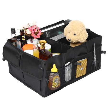 Car Folding Bag Auto Trunk Storage Organizer Bin with Pockets Portable Cargo Carrier Caddy reserve storage box Hanger Holder for Car Truck SUV Van
