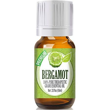 Healing Solutions - Bergamot Oil (10ml) 100% Pure, Best Therapeutic Grade Essential Oil -