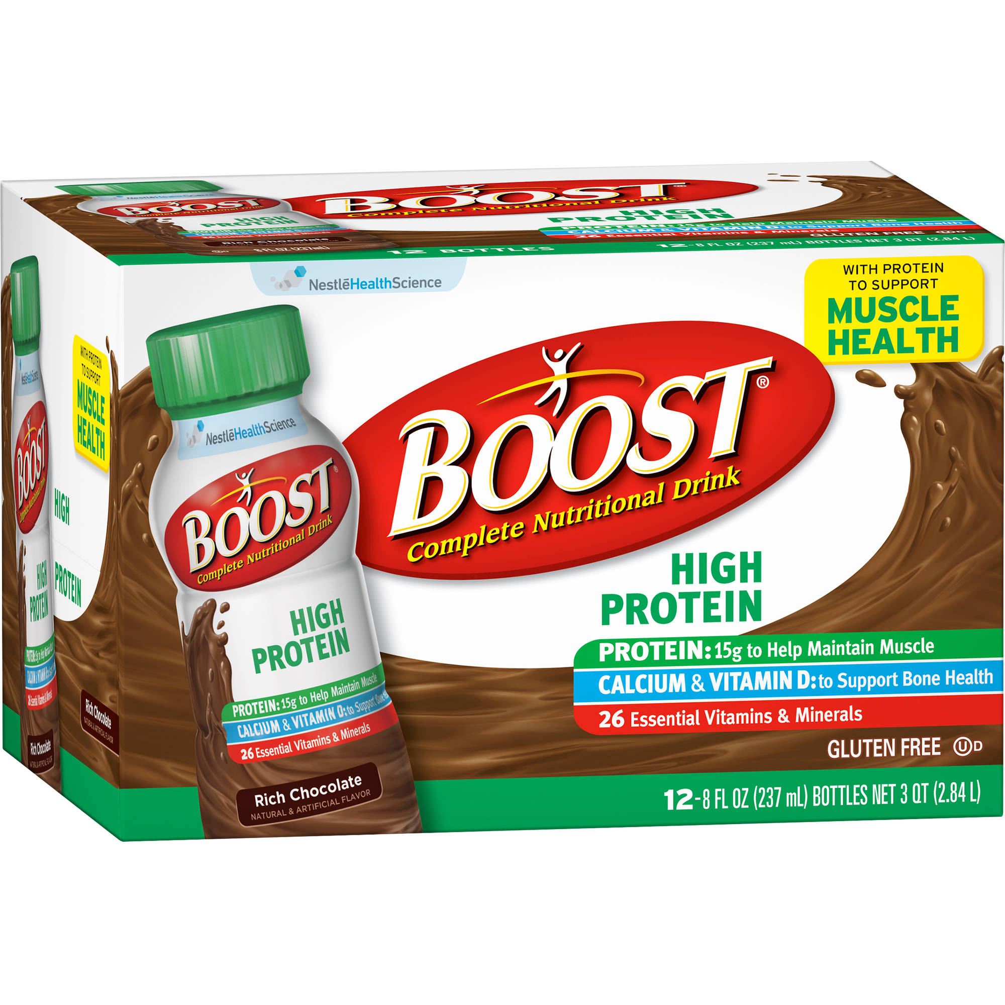 Boost High Protein Rich Chocolate Complete Nutritional Drinks, 8 fl oz, 12 count
