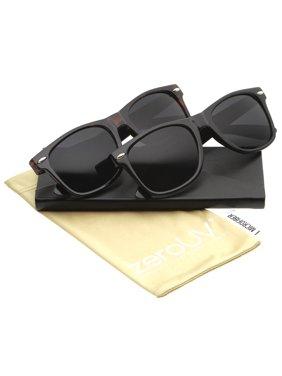9e8c427567521 Product Image zeroUV - Retro Wide Temple Polarized Lens Horn Rimmed  Sunglasses 55mm - 55mm