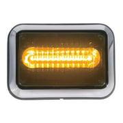 CODE 3 4612ABZ-75 Perimeter Light,LED,Amber,Rect,8-1/2 L