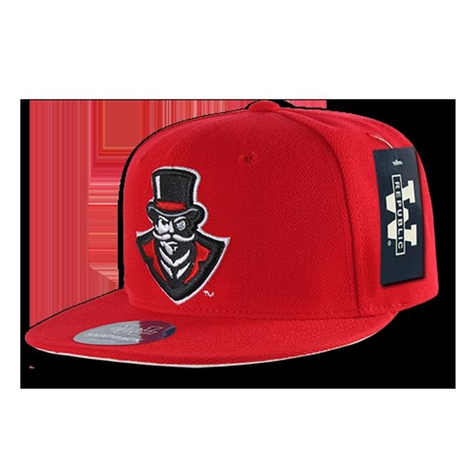 W Republic College Snapback Austin Peay State University, Red