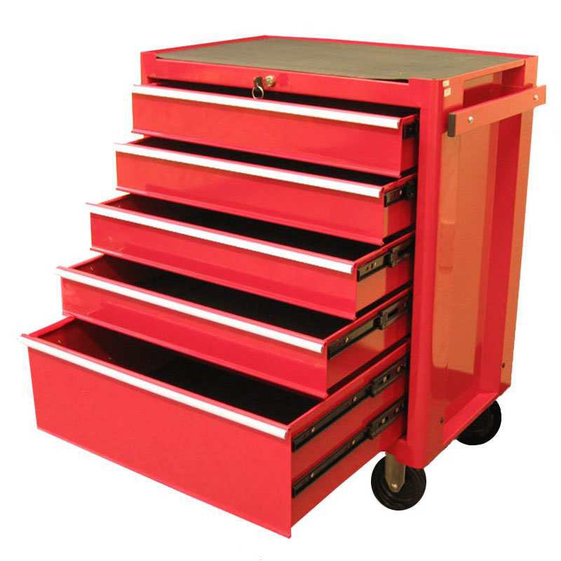 Excel 5 Drawer Red Roller Tool Cabinet