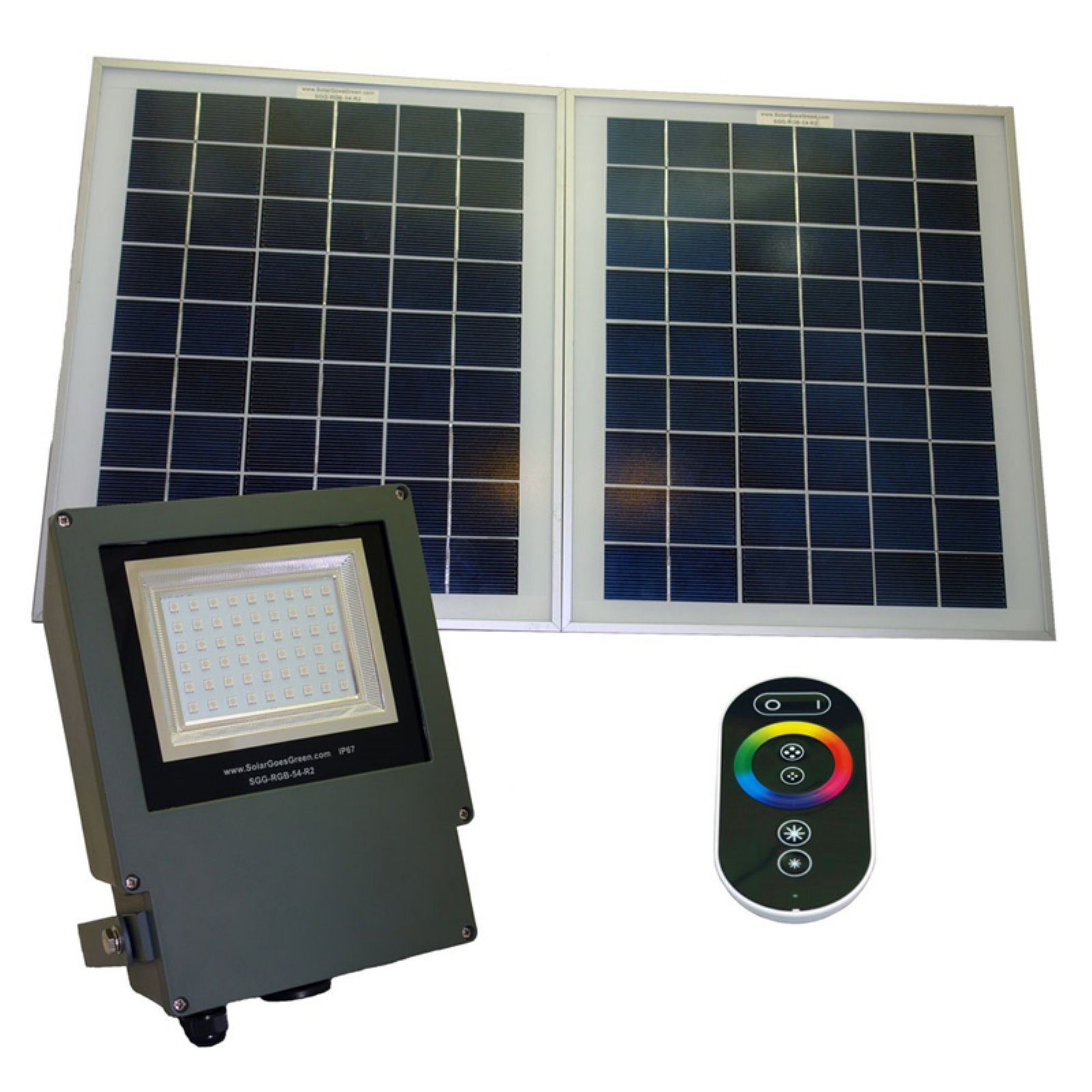 Solar Goes Green LED Color Selectable Flood Light