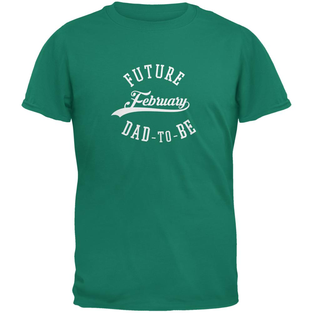 February Dad to Be Jade Green Adult T-Shirt