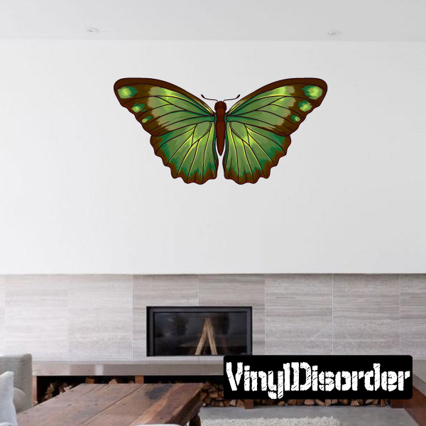 Butterfly Wall Decal - Vinyl Car Sticker - Uscolor012 - 25 Inches