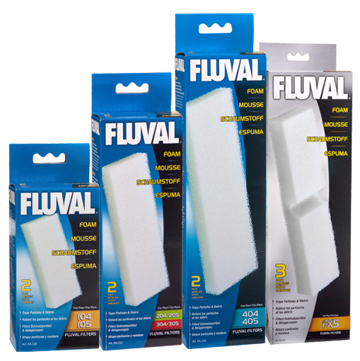 Fluval Filter Foam Block for 104/105 (2 Pack)