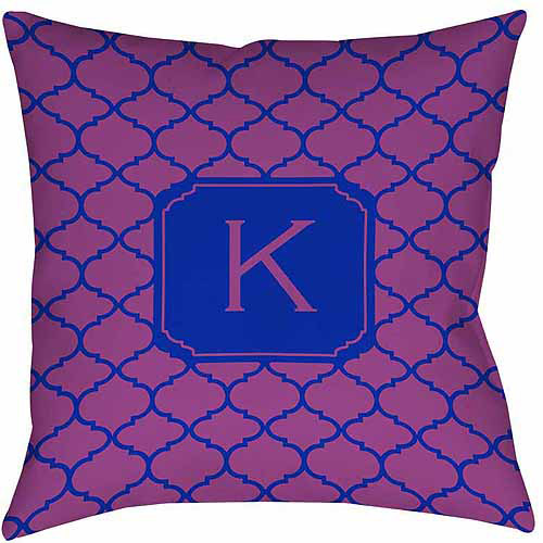 MWW, Inc. Thumbprintz Moroccan Monogram Magenta Decorative Pillows