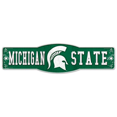 Michigan State Spartans Official Ncaa 4 Inch  X 17 Inch  Plastic Street Sign By Wincraft