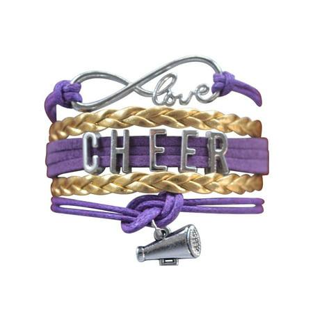 Girls Cheerleading Bracelet, Cheer Gifts- Cheer Jewelry- Cheer Bracelet- Adjustable Cheer Charm Bracelet- Gift For Cheerleaders, Cheer Teams & Cheerleading Coaches](Little Girls Bracelets)