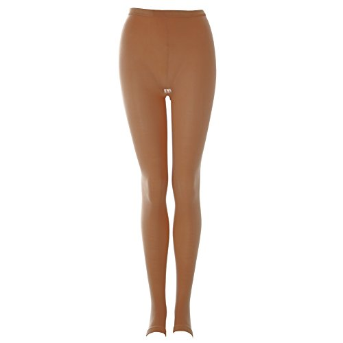 Medium//Large, Suntan Body Wrappers Stirrup Tights Girls