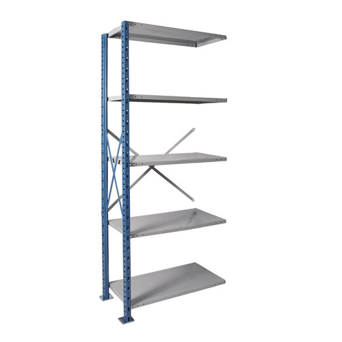 Hallowell H-Post High Capacity Shelving 5 Adjustable Shelves Add-on Unit Open Style with Sway Braces