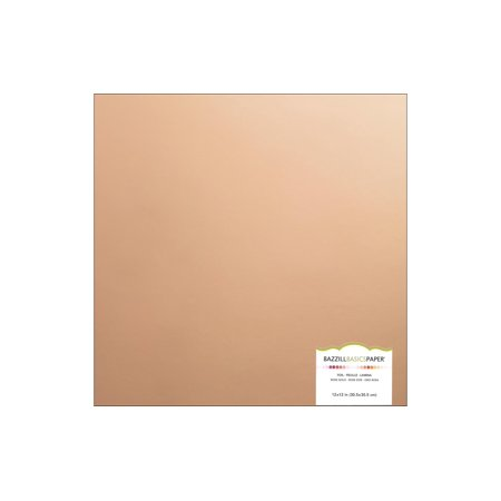 Bazzill Paper 12x12 Foil Board Rose Gold (15 sheets)