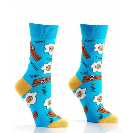 GiftCraft - Yo-Sox Bacon and Eggs Crew Socks  Women s Size 6-10 Novelty -  Walmart.com 993b19aa32