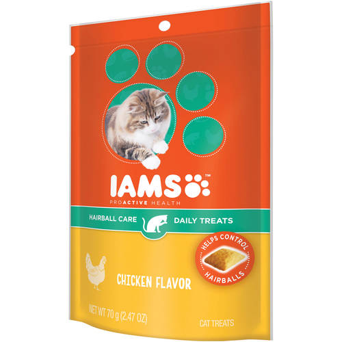 Iams Proactive Health Hairball Care Daily Chicken Flavor Cat Treats, 2.47 Oz by Mars Petcare