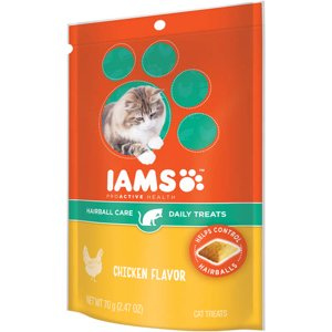 Iams Proactive Health Hairball Care Daily Chicken Flavor Cat Treats, 2.47 Oz