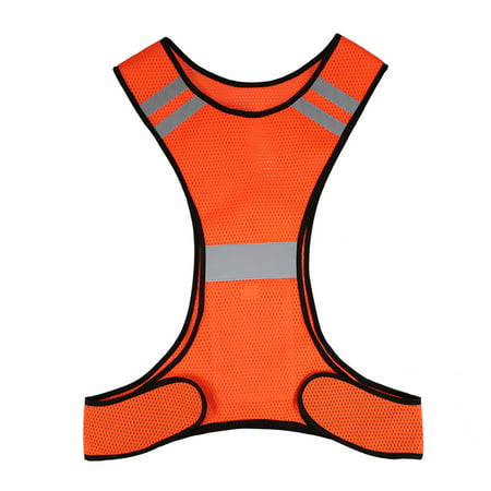 Lightweight Breathable Mesh Reflective Vest High Visibility Safety Vest Gear for Running Walking Cycling Jogging ()