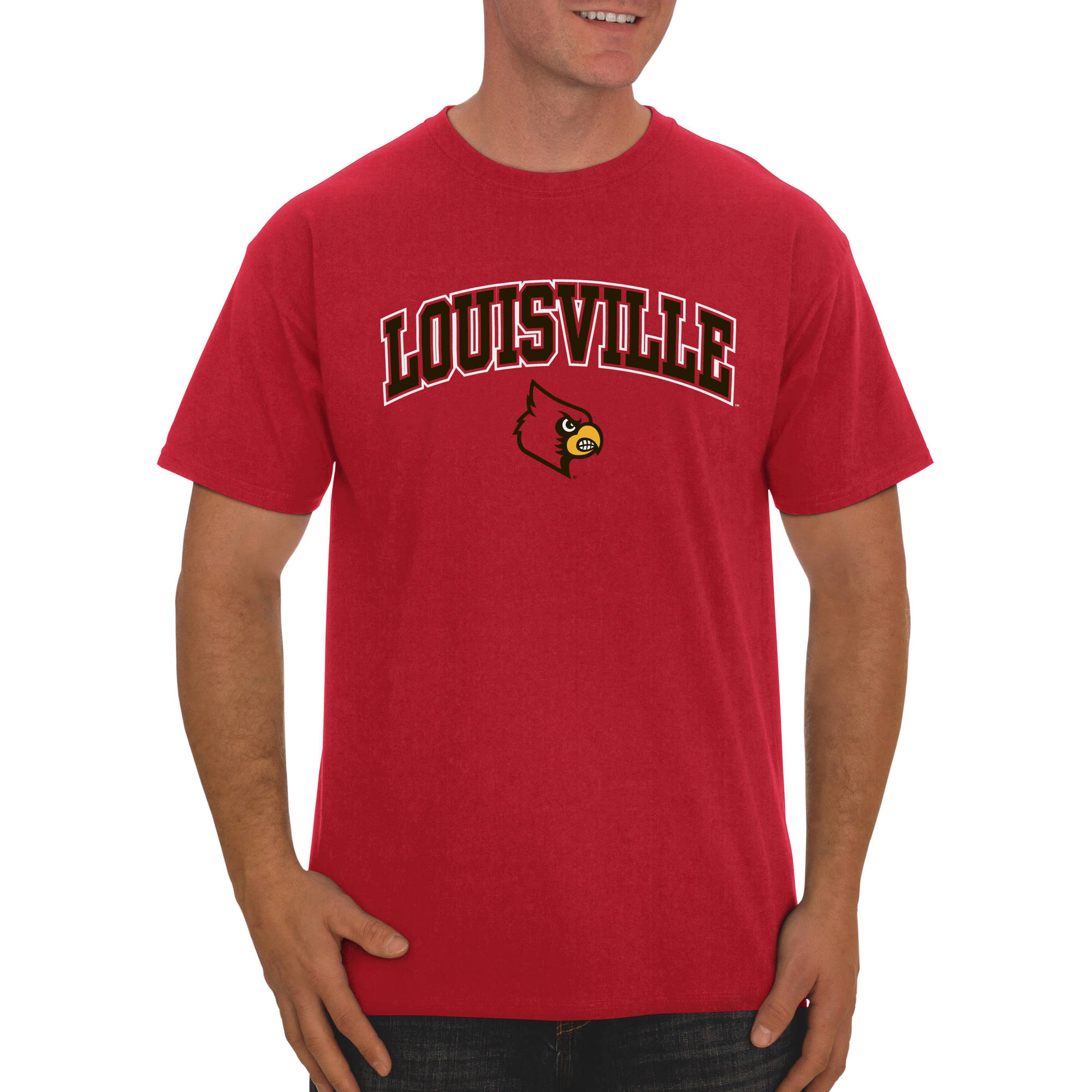 Russell NCAA Louisville Cardinals, Men's Classic Cotton T-Shirt
