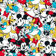 Disney Mickey & Friends Sensational 6 Snapshot 100% Cotton Fabric Sold by The Yard