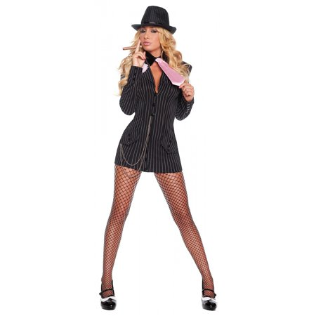 Gangster Dress Adult Costume - - Gangster Costume Woman