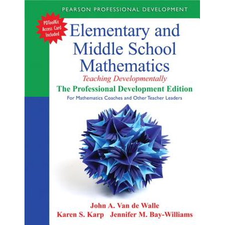 Elementary and Middle School Mathematics : Teaching Developmentally: The Professional Development Edition for Mathematics Coaches and Other Teacher Leaders](Halloween Math Game Middle School)