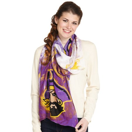 Emerson Street Clothing Co. Women's Watercolor Scarf East Carolina - Carolina Panthers Scarf