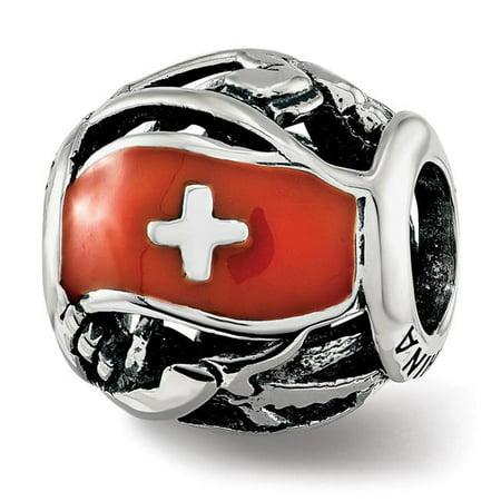 Sterling Silver Reflections Enameled Switzerland Theme Bead - image 1 de 1