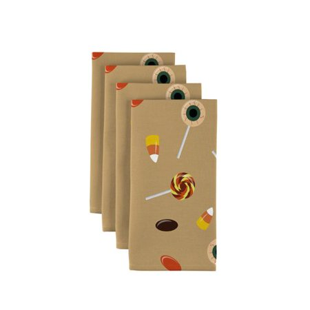 The Holiday Aisle London Halloween Sweet Treats 18'' Napkins (Set of 12) (Clubbing London Halloween)
