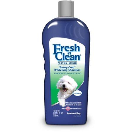 Lambert kay fresh 'n clean snowy coat whitening shampoo vanilla, 18-oz -