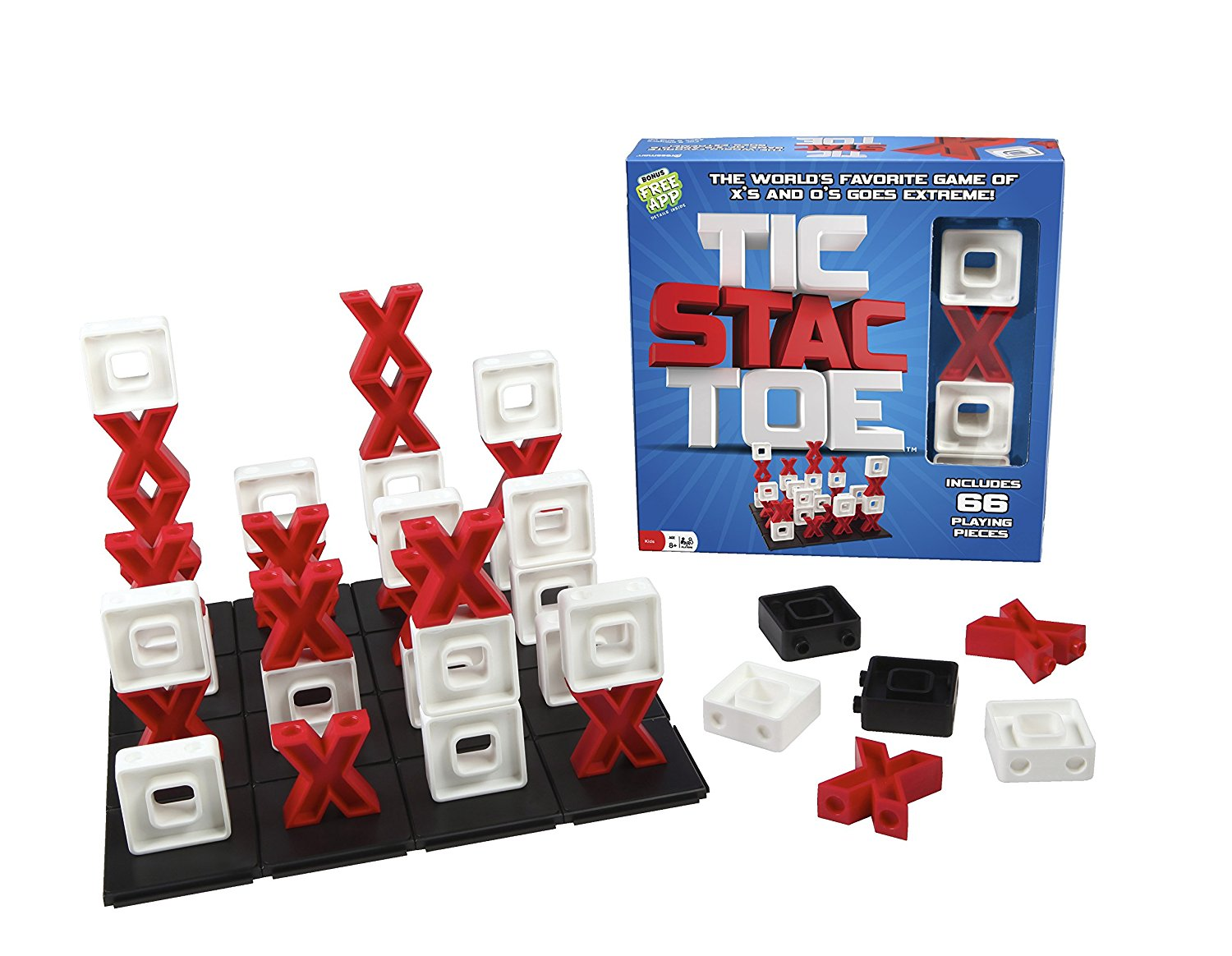 Tic Stac Toe -- 3-D Version of Tic Tac Toe -- A Great Strategy Game, Learn to play in 30 seconds By Pressman... by