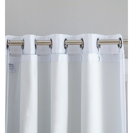 - HLC.ME White Thermal 100% Blackout Grommet Curtain Liner for Complete Darkness, Energy Efficiency, & Privacy