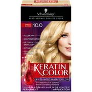 Schwarzkopf Keratin Color Permanent Hair Color Cream, 10.0 Vanilla Blonde