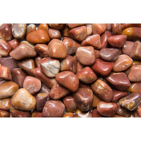 Fantasia Crystal Vault: 1 lb Red Aventurine Tumbled Stones - Large - 1.25
