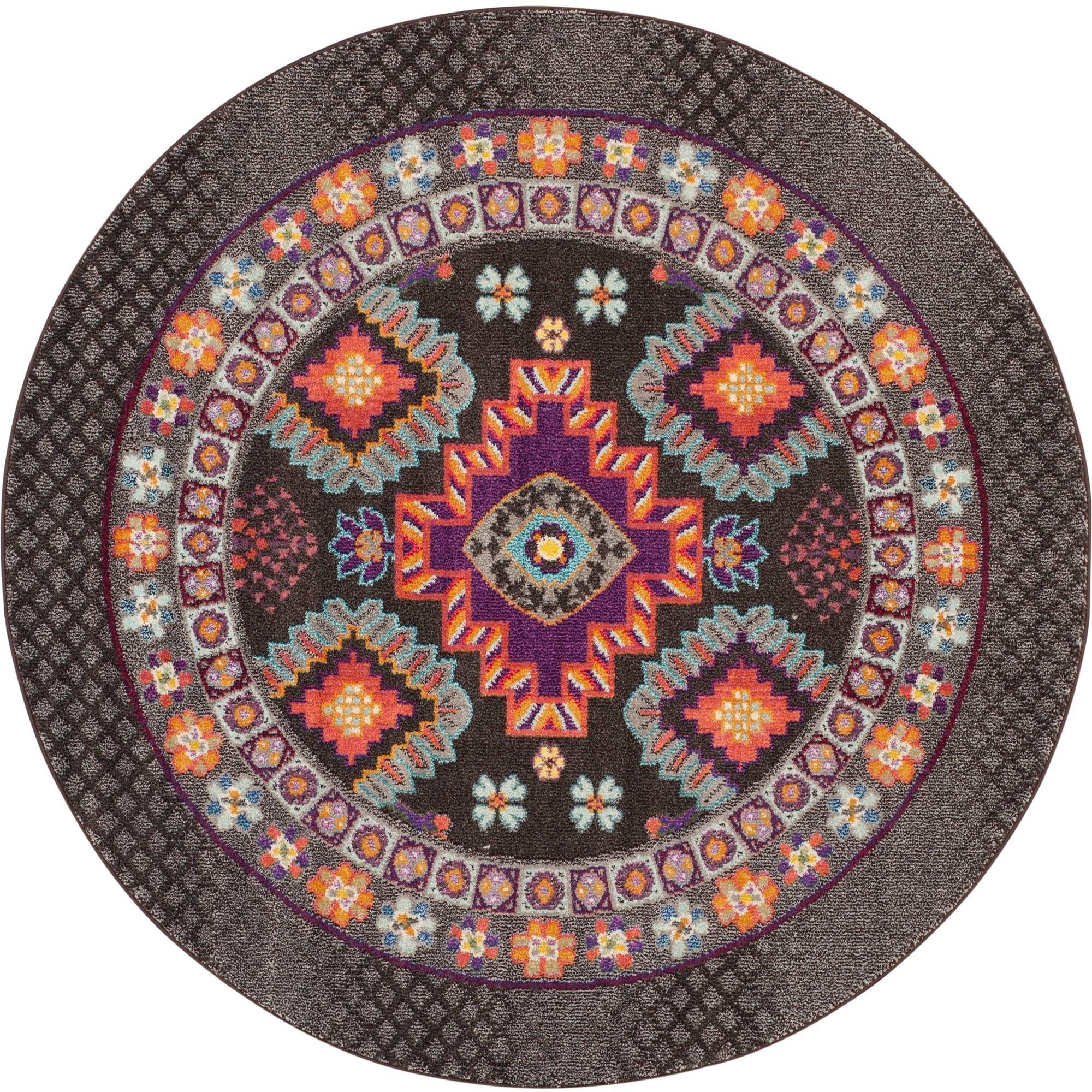 Safavieh Monaco Rosalynne Power Loomed Area Rug, Brown/Multi