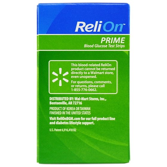 ec5144b77e5f ReliOn Prime Blood Glucose Test Strips