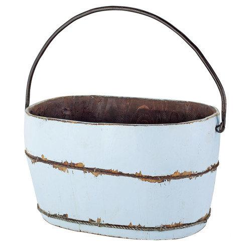 Antique Revival Wooden Bucket