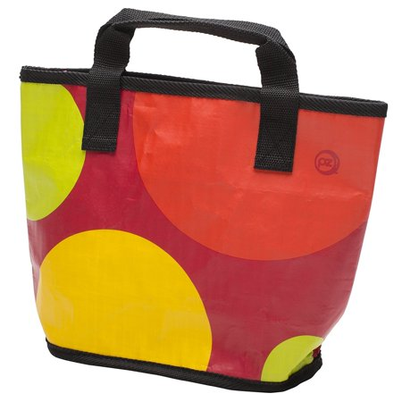 - Planet Zak Stella Woven Lunch Tote with Key Ring, Polka Dot Design, All bags are insulated and come with a removable stainless steel keychain By Zak Designs from USA