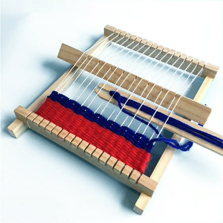 DIY Hand-Knitting Wooden Loom Toys Children Weaving Machine Interllectural Development Technology Production Color:DIY loom