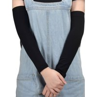 Stretchy Outdoor Sports UV Forearm Sleeves Arm Protector, Black-New