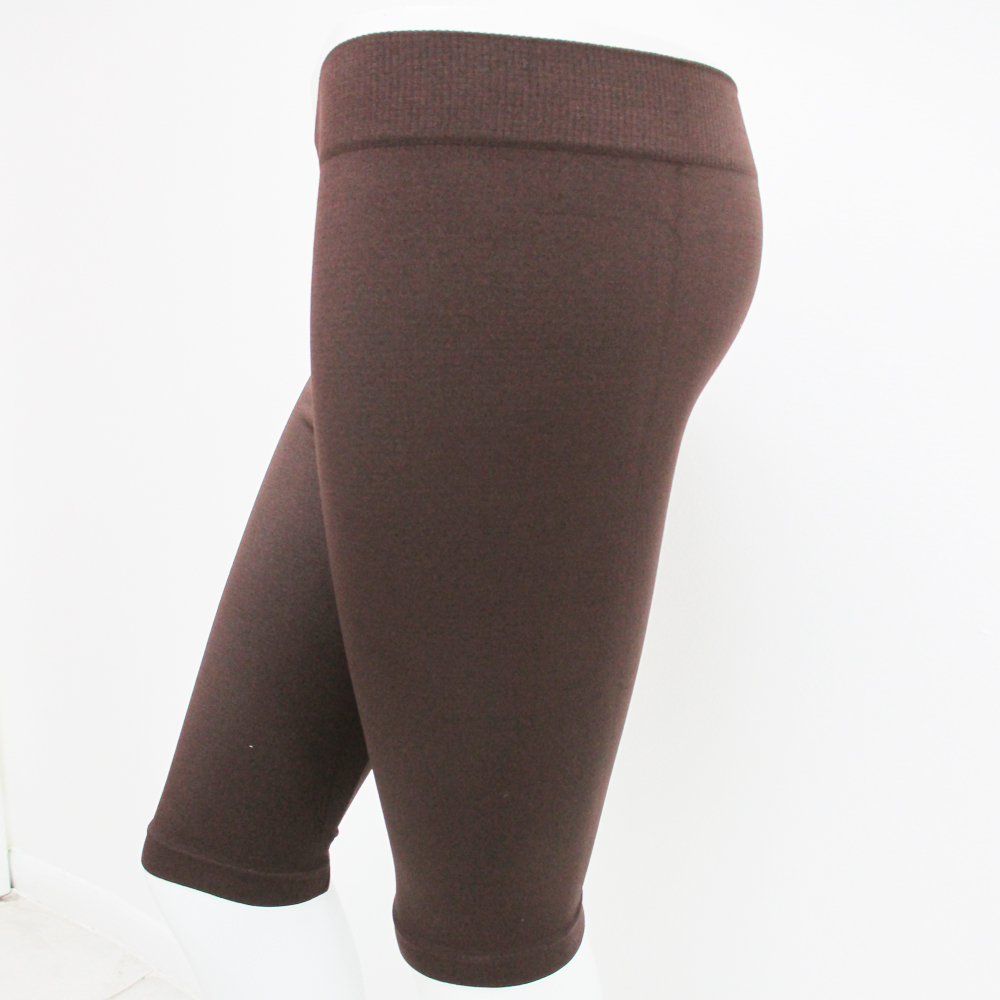 Gym SEAMLESS BASIC SOLID TIGHT ATHLETIC SPANDEX BERMUDA ABOVE KNEE