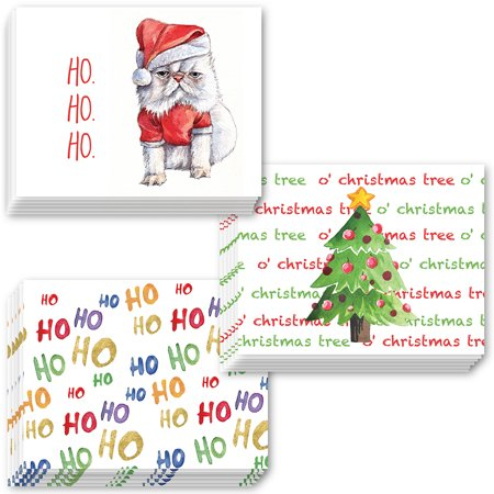 Fun 24 Pack Christmas Greeting Cards with Envelopes 3 Assorted Humorous Holiday Designs Send Funny Warm Wishes to Family Friends Neighbors & Coworkers 24 Mixed Variety Boxed Set by Digibuddha