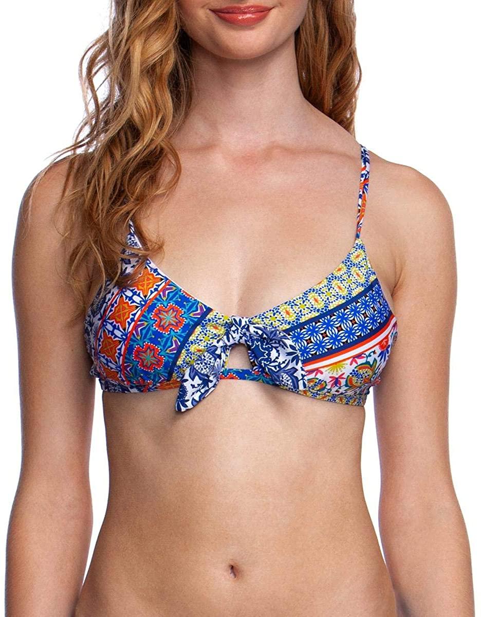 Nanette Lepore Womens Bralette Hipster Bikini Swimsuit Top
