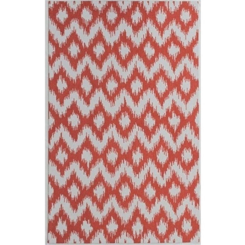 Bowery Hill 8' x 10' New Zealand Wool Rug in Burnt Orange