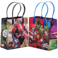 """Marvel Avengers 12 Party Favors Small Reusable Goodie Gift Bags 6"""""""