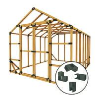 10 ft. W x 14 ft. D Custom DIY Storage Shed Kit by E-Z Frames